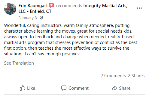 1, Integrity Martial Arts in Enfield, CT