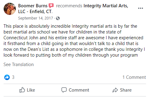 5, Integrity Martial Arts in Enfield, CT